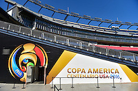 Foxborough, MA - Saturday June 18, 2016: Gillette Stadium prior to a Copa America Centenario quarterfinal match between Argentina (ARG) and Venezuela (VEN)  at Gillette Stadium.