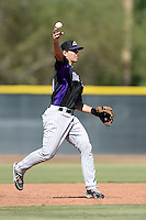 Colorado Rockies third baseman Michael Benjamin (91) during an instructional league game against the Los Angels Angels of Anaheim on September 30, 2013 at Tempe Diablo Stadium Complex in Tempe, Arizona.  (Mike Janes/Four Seam Images)