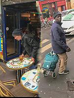 Europe / Ile de France/ Paris /75011: Façade d'un café , Rue Saint Maur et immigré  // Europe / Ile de France / Paris / 75011: Facade of a cafe, Rue Saint Maur and immigrant