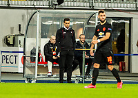12th March 2020, TGW Arena, Pasching, Austria; UEFA Europa League football,  LASK versus Manchester United;  Trainer Valerien Ismael LASK  watches play as his team falls behind