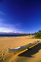 Outrigger canoe on Wailea Beach on Maui's South Side.