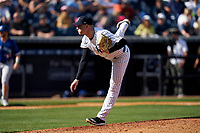 New York Yankees pitcher Kaleb Ort (98) during a Spring Training game against the Toronto Blue Jays on February 22, 2020 at the George M. Steinbrenner Field in Tampa, Florida.  (Mike Janes/Four Seam Images)