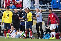 Action photo during the match United States vs Ecuador at CenturyLink Field Stadium Copa America Centenario 2016. ---Foto  de accion durante el partido Estados Unidos En el Estadio CenturyLink Field. Partido Correspondiante a los Cuartos de Final de la Copa America Centenario USA 2016, en la foto: Michael Arroyo, Jurgen Klinsmann<br /> --- - 16/06/2016/MEXSPORT/Omar Martinez.