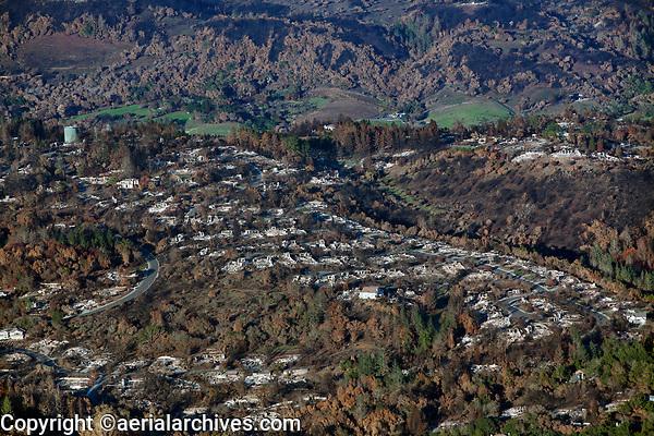 Tubbs Fire, Sonoma County, California, northern California wildfires, 2017.
