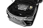 Car Stock 2018 Lexus LX 570 5 Door SUV Engine  high angle detail view