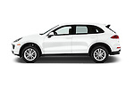 Car Driver side profile view of a 2017 Porsche Cayenne Diesel 5 Door SUV Side View