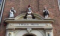 Nederland - Hoorn- 2020.  T Wees Huys. Protestants of Burgerweeshuis. In het midden het stadswapen van Hoorn.     Foto ANP / HH / Berlinda van Dam