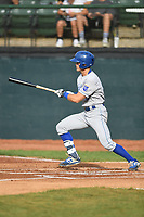 Burlington Royals Michael Massey (6) bats during a game with the Bristol Pirates at Boyce Cox Field on June 19, 2019 in Bristol, Virginia. The Royals defeated the Pirates 1-0. (Tracy Proffitt/Four Seam Images)