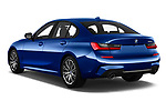 Car pictures of rear three quarter view of 2019 BMW 3-Series M-Sport 4 Door Sedan Angular Rear