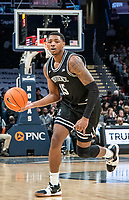 WASHINGTON, DC - FEBRUARY 19: Emmitt Holt #15 of Providence moves up court during a game between Providence and Georgetown at Capital One Arena on February 19, 2020 in Washington, DC.