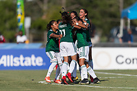 Bradenton, FL - Sunday, June 12, 2018: Alison Gonzalez, goal celebration during a U-17 Women's Championship Finals match between USA and Mexico at IMG Academy.  USA defeated Mexico 3-2 to win the championship.