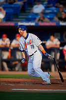 St. Lucie Mets Todd Frazier (19), on rehab assignment, bats during a Florida State League game against the Florida Fire Frogs on April 12, 2019 at First Data Field in St. Lucie, Florida.  Florida defeated St. Lucie 10-7.  (Mike Janes/Four Seam Images)