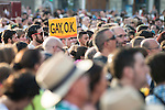 Protest during Gay Pride celebrations in Madrid, Spain. July 04, 2015.<br />  (ALTERPHOTOS/BorjaB.Hojas)