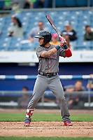 Lehigh Valley IronPigs pinch hitter Danny Ortiz (6) at bat during a game against the Syracuse Chiefs on May 20, 2018 at NBT Bank Stadium in Syracuse, New York.  Lehigh Valley defeated Syracuse 5-2.  (Mike Janes/Four Seam Images)