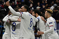 Lucas Tousart of Lyon celebrates with team mates after scoring the goal of 1-0 <br /> Lyon 26/02/2020 OL Stadium Decines <br /> Football Champions League 2019//2020 <br /> Round of 16 1st Leg <br /> Olympique Lionnais Lyon - Juventus <br /> Photo Fredric Chambert/Panoramic/Insidefoto
