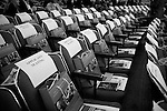 Friday, April 20,  2007, New York, New York.. 100 people were sworn in as US citizens today at the New York Historical Society located at 170 Central Park West.. Chairs are set up for the arriving citizenship applicants in the auditorium.