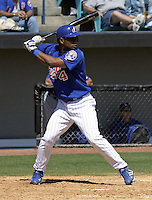 April 1, 2004:  Second baseman Henry Mateo of the Montreal Expos (Washington Nationals) organization during Spring Training at Space Coast Stadium in Melbourne, FL.  Photo copyright Mike Janes/Four Seam Images