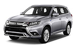 2019 Mitsubishi Outlander-PHEV Intense-4wd 5 Door SUV Angular Front automotive stock photos of front three quarter view