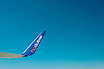 A Boeing Co. 737 airliner, operated by Fly Dubai is displayed during the Dubai Air Show on 9 November 2015 at the outskirts of Dubai, United Arab States. Photo by Victor Fraile / Power Sport Images