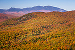 The view of the Bigelow Range from Ira Mountain in the Carrabassett Valley, Maine, USA