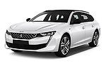 2019 Peugeot 508 First Edition 5 Door Wagon angular front stock photos of front three quarter view