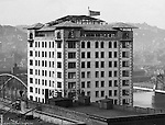 Pittsburgh PA:  View of the Bessemer Building under construction. The photo was taken by Brady Stewart from the roof of the Empire Building