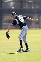 Alex Jones #98 of the Milwaukee Brewers participates in spring training workouts at the Brewers complex on April 2, 2011 in Phoenix, Arizona. .Photo by:  Bill Mitchell/Four Seam Images.