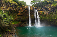Wailua Falls in the Kawaihau district of Kaua'i.