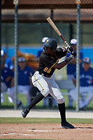 Pittsburgh Pirates right fielder Juan Pie (88) at bat during a Florida Instructional League game against the Toronto Blue Jays on September 20, 2018 at the Englebert Complex in Dunedin, Florida.  (Mike Janes/Four Seam Images)