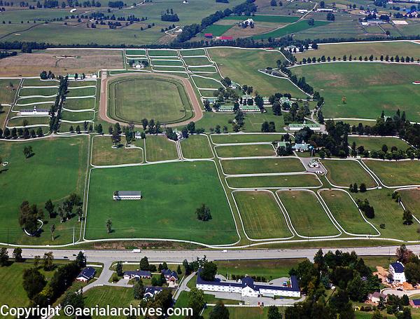 aerial photograph Calumet horse farm Lexington, Kentucky