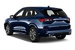 Car pictures of rear three quarter view of 2020 Ford Kuga ST-Line 5 Door SUV Angular Rear