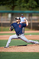 Cleveland Indians pitcher Tanner Tully (52) during an Instructional League game against the Los Angeles Dodgers on October 10, 2016 at the Camelback Ranch Complex in Glendale, Arizona.  (Mike Janes/Four Seam Images)