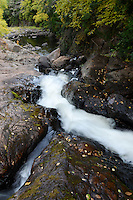 The Dead River during the autumn season. Negaunee Township, Michigan