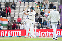 Tim Southee of New Zealand immediately calls for a review which is upheld during India vs New Zealand, ICC World Test Championship Final Cricket at The Hampshire Bowl on 22nd June 2021
