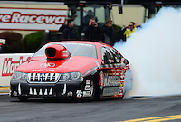 Oct. 8, 2012; Mohnton, PA, USA: NHRA pro stock driver V. Gaines during the Auto Plus Nationals at Maple Grove Raceway. Mandatory Credit: Mark J. Rebilas-