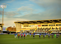 30th December 2020; St Mirren Park, Paisley, Renfrewshire, Scotland; Scottish Premiership Football, St Mirren versus Rangers; St Mirren players and Rangers players line up for a minutes silence for Scottish football legend Jim McLean who passed away 26th December
