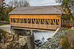 The Quechee covered bridge in Quechee, Vermont, USA