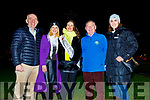 Guest of honour Sally-Ann Leahy (Kerry Rose 2019) switches on the lights at the Lighting of the Light to Remember Tree in UHK on Saturday. L to r: Fergal Grimes (Manager UHK), Deirdre  Walsh, Sally-Ann Leahy (Kerry Rose 2019), Joe Hennerby and Mari O'Connell (Director of Nursing UHK),