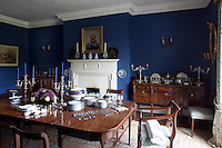 The dining room is in the original part of the house