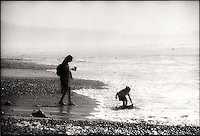 Mother and child at beach<br />