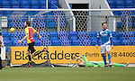 St Johnstone v Partick Thistle…11.02.17     Scottish Cup    McDiarmid Park<br />Adam Barton scores for Partick Thistle<br />Picture by Graeme Hart.<br />Copyright Perthshire Picture Agency<br />Tel: 01738 623350  Mobile: 07990 594431