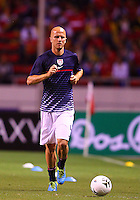 SAN JOSE, COSTA RICA - September 06, 2013: Michael Bradley (4) of the USA MNT warming up before the Costa Rica MNT 2014 World Cup qualifying match at the National Stadium in San Jose on September 6. USA lost 3-1.