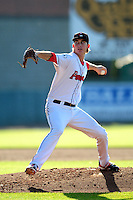 Henry Owens (33) of the Pawtucket Red Sox delivers a  pitch during the game versus the Louisville Bats at McCoy Stadium on May 30, 2015 in Pawtucket, Rhode Island.<br />