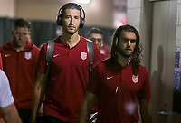 Nashville, TN - Saturday July 08, 2017: Omar Gonzalez, Graham Zusi during a 2017 Gold Cup match between the men's national teams of the United States (USA) and Panama (PAN) at Nissan Stadium.