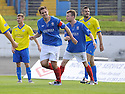 Cowdenbeath's John Armstrong celebrates after he scores Cowdenbeath's first goal  ...