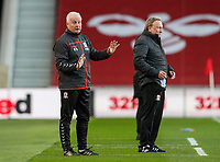 Middlesbrough assistant manager Kevin Blackwell has a word with the assistant referee<br /> <br /> Photographer Alex Dodd/CameraSport<br /> <br /> The EFL Sky Bet Championship - Middlesbrough v Norwich City - Saturday 21st November 2020 - Riverside Stadium - Middlesbrough<br /> <br /> World Copyright © 2020 CameraSport. All rights reserved. 43 Linden Ave. Countesthorpe. Leicester. England. LE8 5PG - Tel: +44 (0) 116 277 4147 - admin@camerasport.com - www.camerasport.com