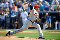 Detroit Tigers pitcher Drew VerHagen (54) delivers a pitch during a Spring Training game against the New York Yankees on March 2, 2016 at George M. Steinbrenner Field in Tampa, Florida.  New York defeated Detroit 10-9.  (Mike Janes/Four Seam Images)