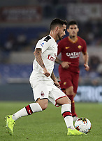 Football, Serie A: AS Roma - AC Milan, Olympic stadium, Rome, October 27, 2019. <br /> Milan's Suso in action during the Italian Serie A football match between Roma and Milan at Olympic stadium in Rome, on October 27, 2019. <br /> UPDATE IMAGES PRESS/Isabella Bonotto