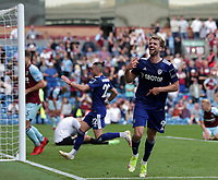 29th August 2021; Turf Moor, Burnley, Lancashire, England; Premier League football, Burnley versus Leeds United: Patrick Bamford of Leeds United celebrates after scoring to level the score at 1-1 after 85 minutes