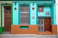 Cuba, Havana.  House Front, Old Havana.